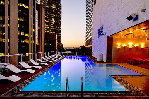 Los Angeles, California, Usa, America, City, Pool
