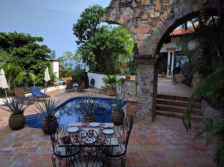 Pool, Mexico, Puerto Vallarta, Travel, Tropical, Water