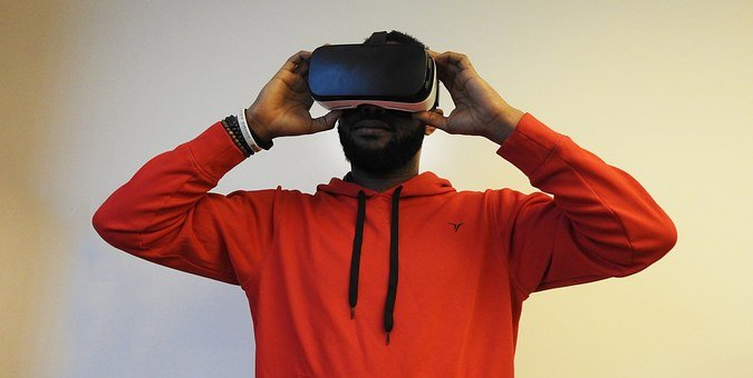 Man, Black, Virtual Reality, Samsung Gear, Vr