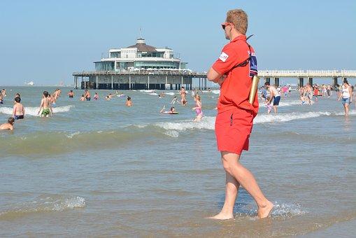 Sea, Blankenberge, People, Beach, Belgian Pier, Holiday