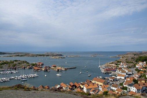 Hunnebostrand, Bohuslän, Sea, Summer, Water, Himmel