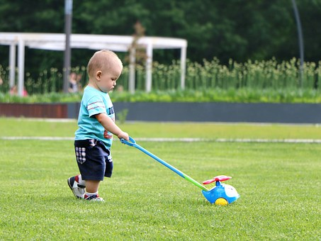 Baby, Field, Toy, Boy, Park, Helicopter, Little, Summer