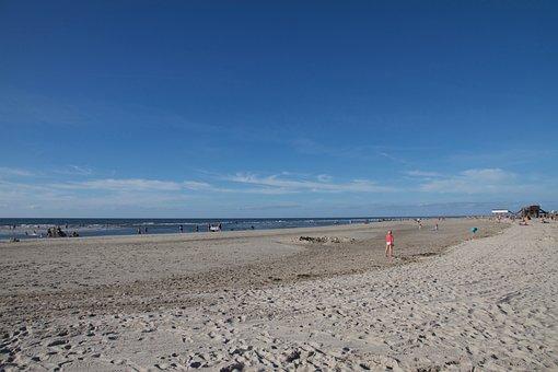 Backlighting, Beach, Sand Beach, Swim, St Peter, Ording