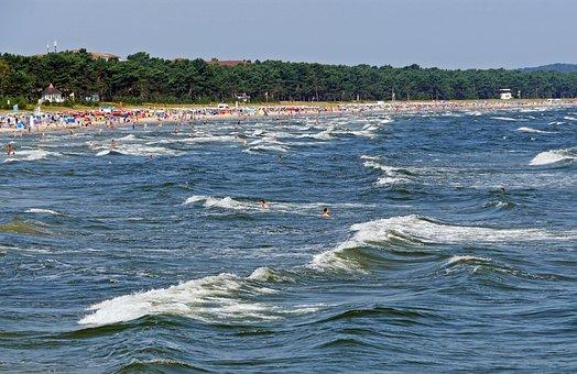 Beach, Rügen, Binz, Baltic Sea, Wave, Swim, Sand Beach