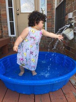 Pool, Summer, Swimming Pool, Child, Kid, Playing, Wet