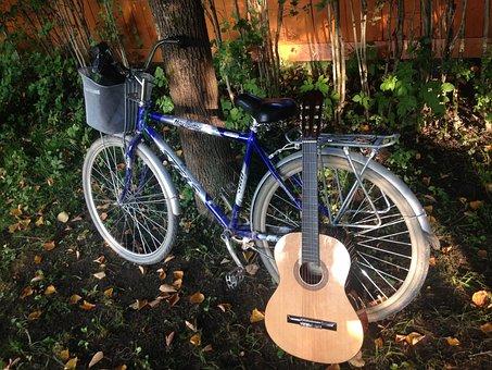 Bike, Guitar, Vacation, Transport, Summer