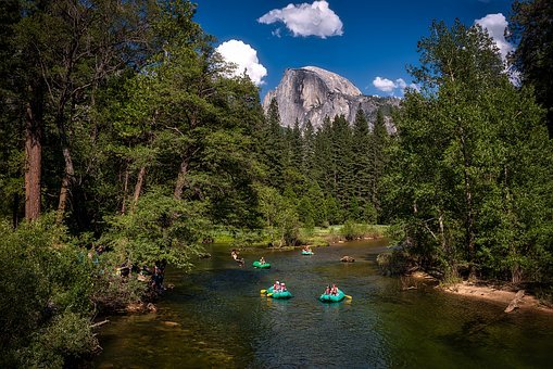 Yosemite, River, Water, California, National, Park