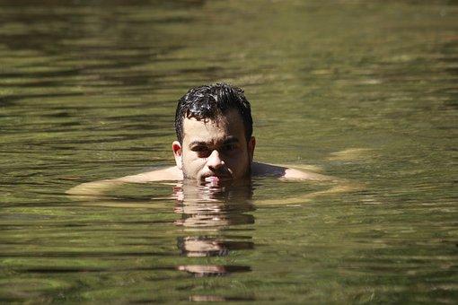 Water, Under Water, Look, Swim, River