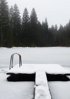 Winter, Landscape, Web, Water, Ice, Frozen Lake, Wintry