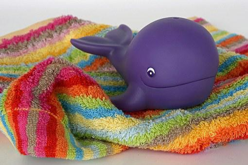 Whale, Toys, Water, Terry Rag, Wet, Play, Swim, Animal