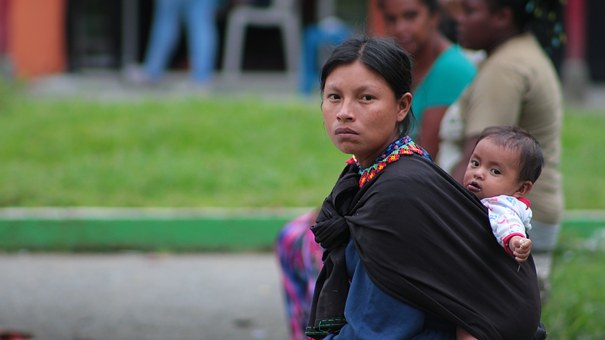 Indigenous, Chamí, Risaralda, People, Colombia, Women