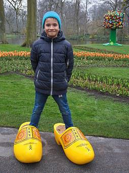 Boy, Wooden Shoes, Holland, Netherlands, Shoes, Wood