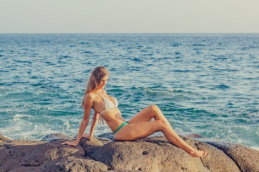 Bikini, Exposure To The Sun, Young Woman, Woman, Summer