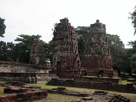 Thailand, Ruin, Ayyutthaya, Architecture