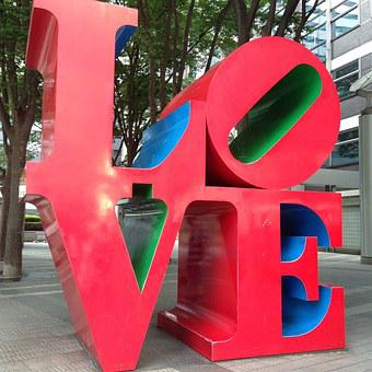 Shinjuku Island Tower, Love, Word, Sculpture, Art