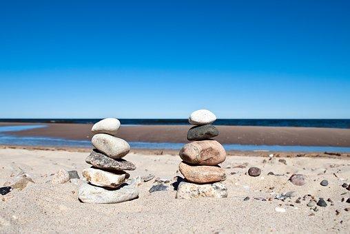 Stones, Stack, Water, Sea, Beach, Balance, Stone Tower