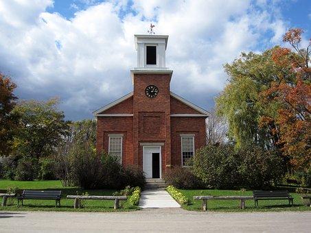Vermont, Shelburne, Building, Meeting House, Brick