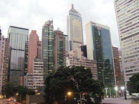 Hong Kong, Skyscrapers, Buildings, City, Skyline