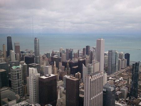Chicago, City, Cityscape, Usa, Metropole, Skyline