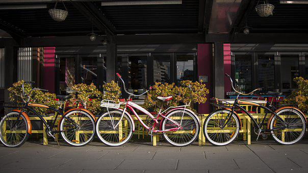 Melbourne, South Wharf, Bicycle, Cityscape, Yarra