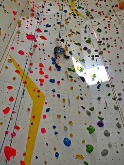 Climbing, Wall, Indoor, Climber, Sport, Climb, Success