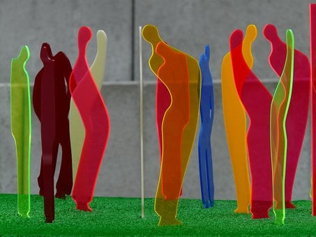 Fluorescent, Crowd, Meeting, Collection, Group