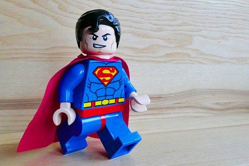 Superman, Toy, Lego, Hero, Super, Fun, Cute, Costume
