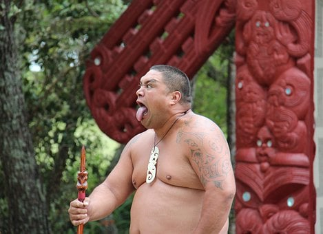 Maori, Man, Making A Face, New Zealand, Culture