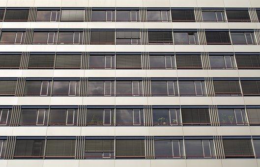 Facade, Windows, Background, Exterior, Building, Glass