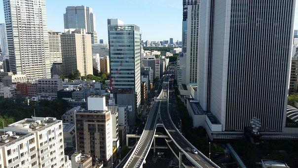 Highway, Tokyo, Skyscrapers, Japan, City, Asia