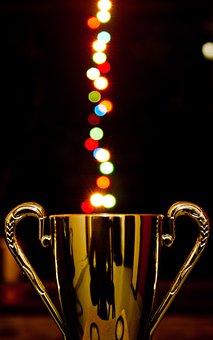 Award, Cup, Lights, Bokeh, Trophy, Prize, Achievement