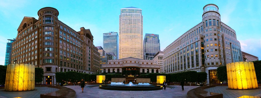 London, Canary Wharf, Business, Architecture, City