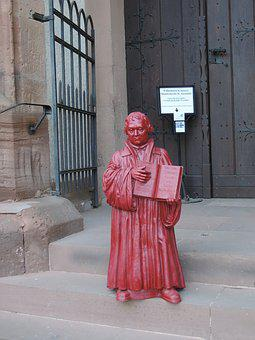 Luther, Church, Statue, Luther Year, Protestant