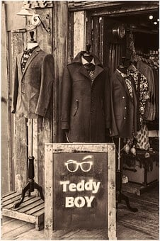 London, Teddy Boy, Camden Town, Suits, Mannequins, Male