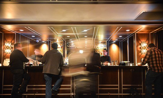 Bar, Nightlife, People, Drinking, Talking, Motion