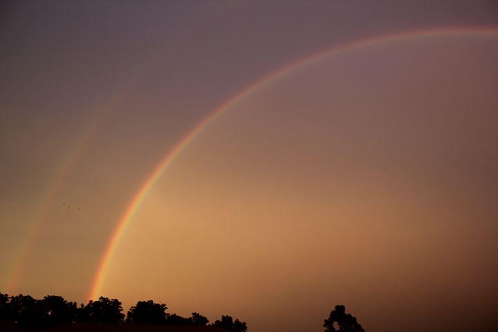 Double Rainbow, Rainbow, Double, Nature, Storm