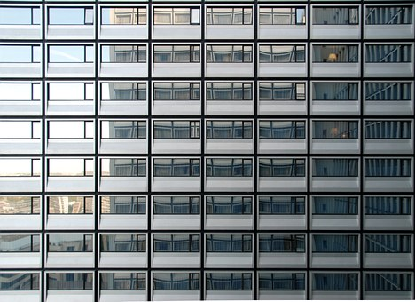 Windows, Skyscraper, Pattern, Repetition, Office, Urban