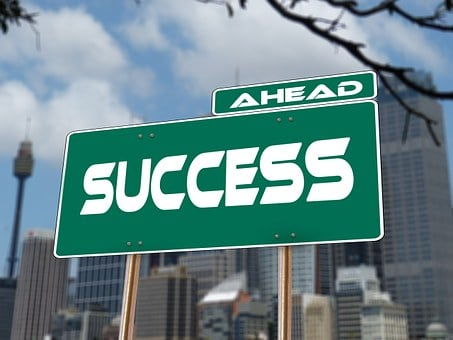 Success, Road Sign, Traffic Sign, Career, Rise