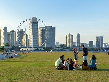Singapore, Marina Barrage, Singapore Landmark