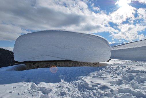 Sky, Snow, Mountain, The Snow, Heavy, Roof Houde