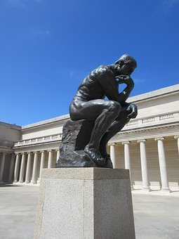 Thinker, Statue, Thoughtfulness, Thought, Auguste Rodin