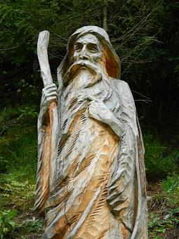 The Statue Of, Woodcarving, Wood, A Man, The Old Man