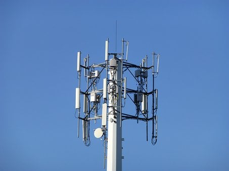 Cellular Tower, Sky, Blue, Clear Sky, Tower, Station