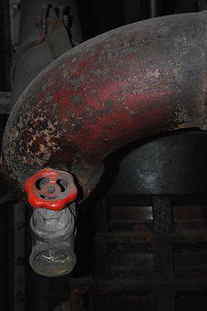 Water Pipe, Adjusting Screw, Line, Corrosion, Industry