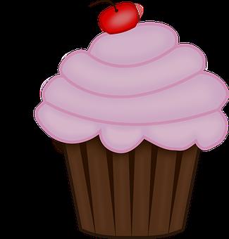 Cupcake, Logo, Cupcakes, Bakery, Sweet, Dessert, Pink