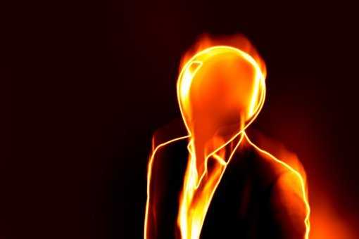 Stress, Burnout, Man, Flame, Burn, Fire, Face, Old