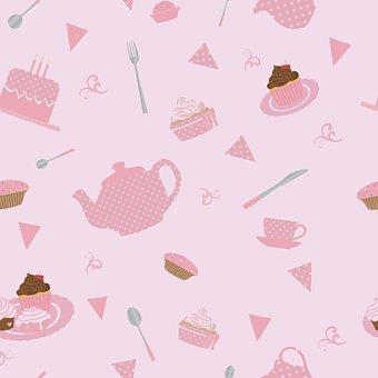 Pattern, Seamless, Tableware, T, Knife, Fork, Spoon