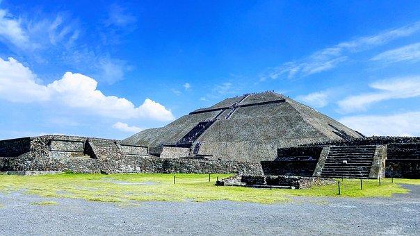 Pyramid, Mexico, Aztec, Mayan, Maya, Yucatan, Mexican