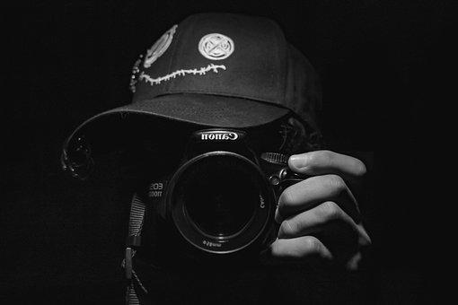 Young Man, The Darkness, Camera, Photographer, Boy