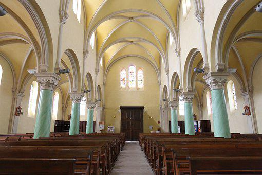Religion, Catholic, Church, Charavines, Paladru, Isère